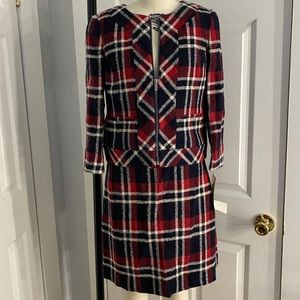 Brooks Brothers matching plaid skirt and blazer
